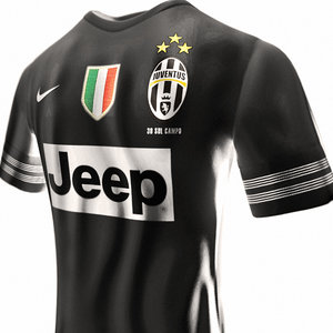 3d model of realistic juventus soccer jersey