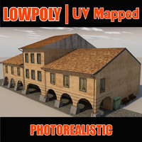Lowpoly Rome style house Build_X8
