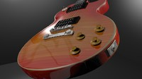 Les Paul Guitar 3d Model