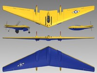 n9mb flying wing 3d model