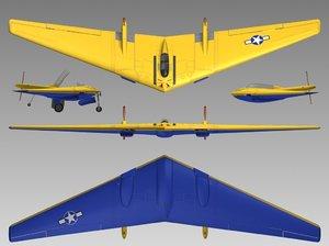 n9mb flying wing 3d model