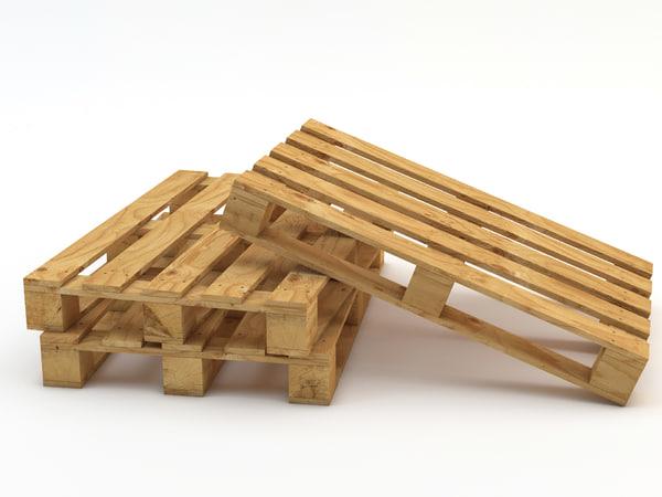 3d model of pallet industrial modelled