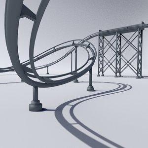 roller coaster 3d c4d