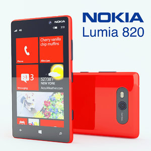 3d new nokia lumia 820