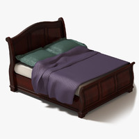 sleigh bed 3d model