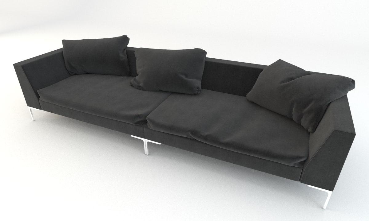 3d b italia style sofa