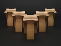 3d model flow stool