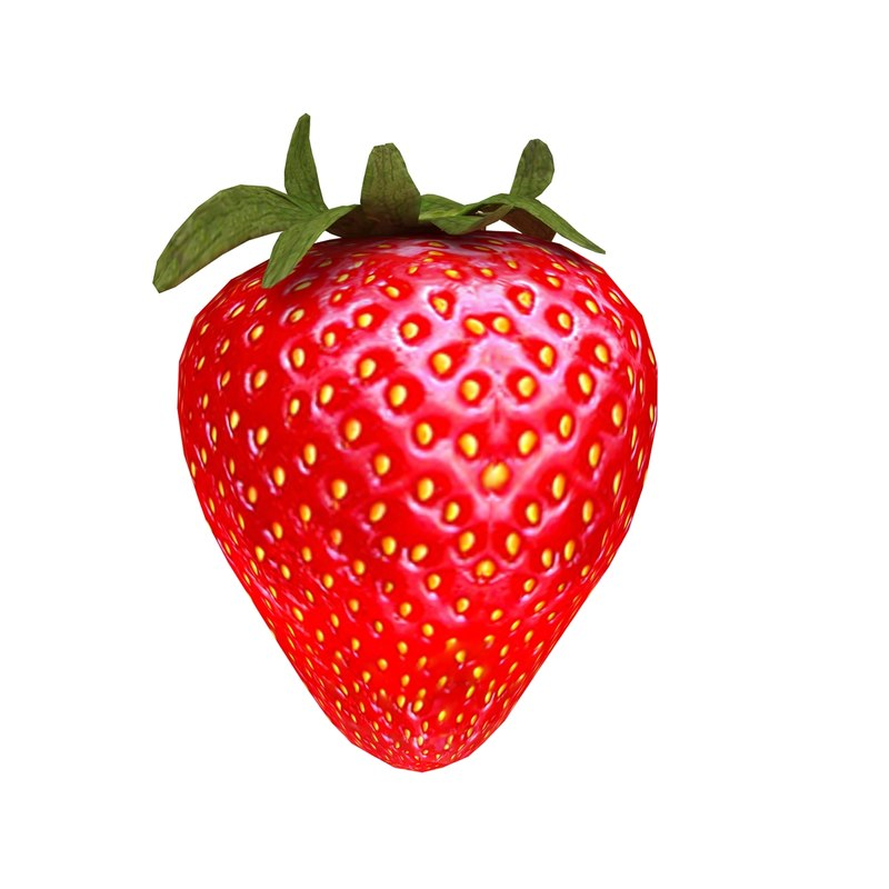 3ds max strawberry fruit fresh