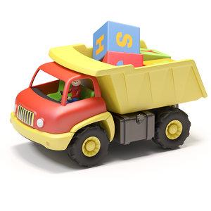 3d toy truck model