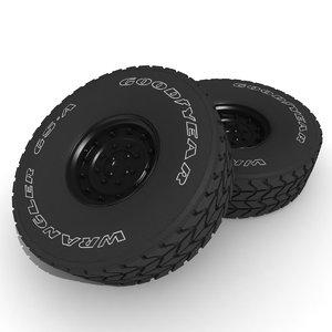 3d tyre good year model