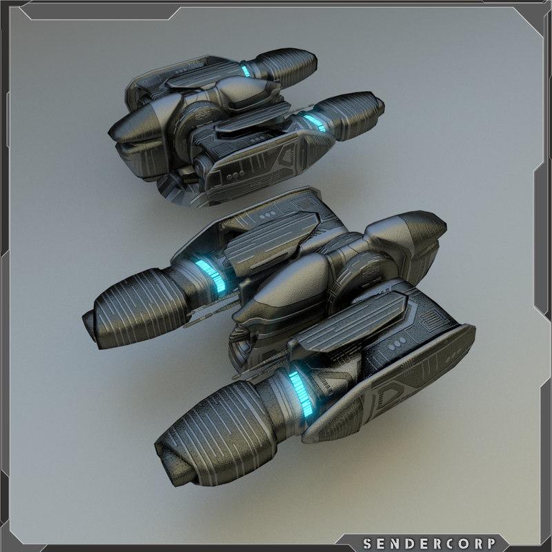 energy gun turret 3d model