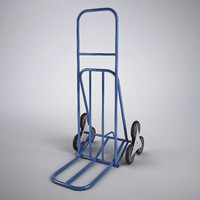 3d stair climbing sack truck model