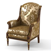 Armando Rho A 707 LXVI Luxury  armchair  classic carved a707
