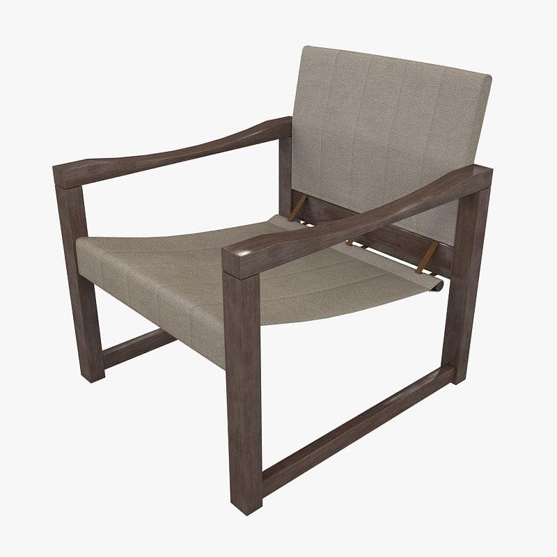 3d model armchair social 70ties