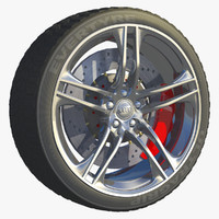 car tire wheel rim 3d model