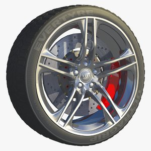 car tire wheel rim 3d model