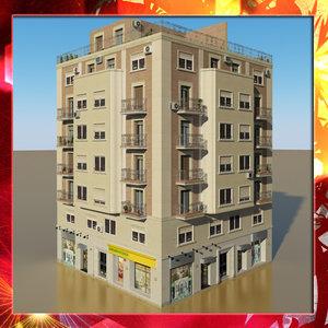 photorealistic building 6 3d model