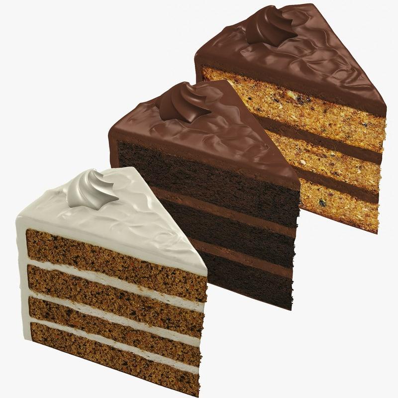slices cake obj