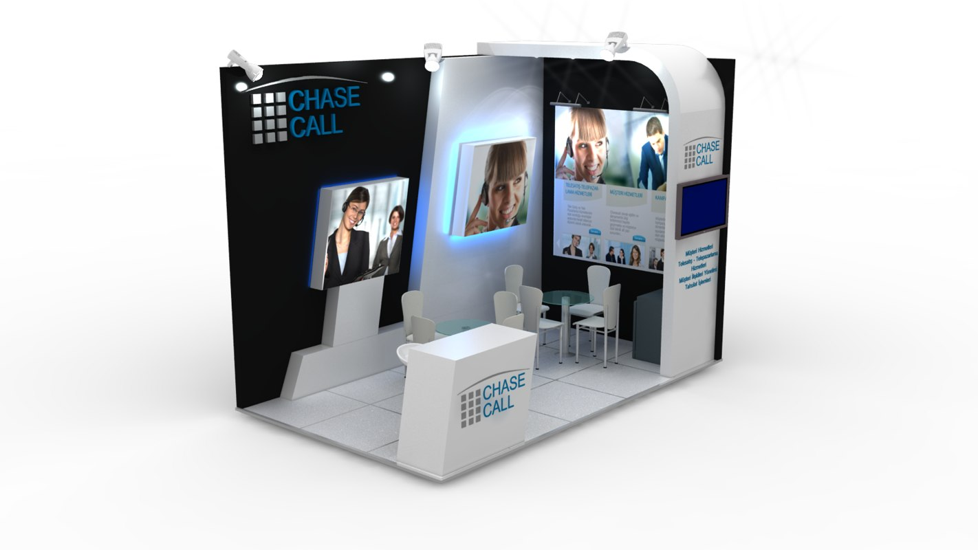 chasecall exhibition design 3d model