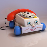 toy chatter phone 3d obj