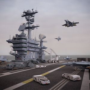 cvn 74 aircraft carrier 3d obj