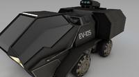 3d model futuristic tank ev-105