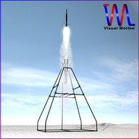 3d model of rocket robert goddard liquid