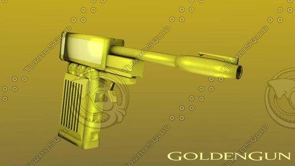 free goldengun gun 3d model