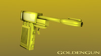free goldengun gun 3d model