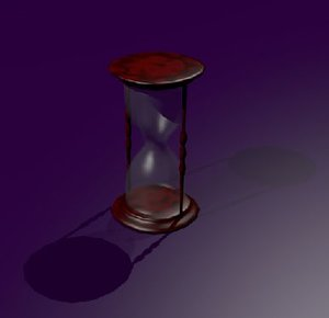 hour hourglass glass 3ds free