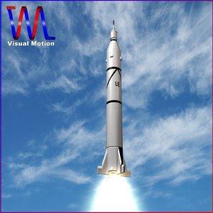 3d obj jupiter c rocket
