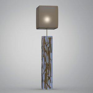 3d acrylic floor lamp kisimi