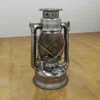 3d tin oil lantern