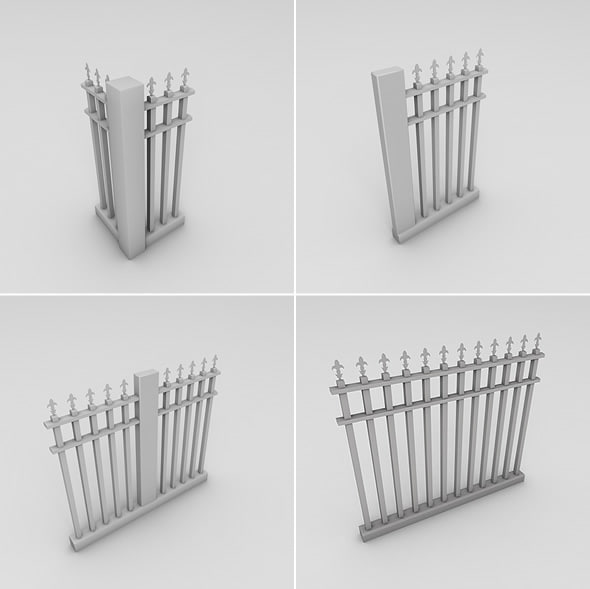 dxf metal spear fence