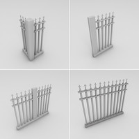 dxf metal spear fence