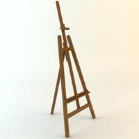 easel 3d model