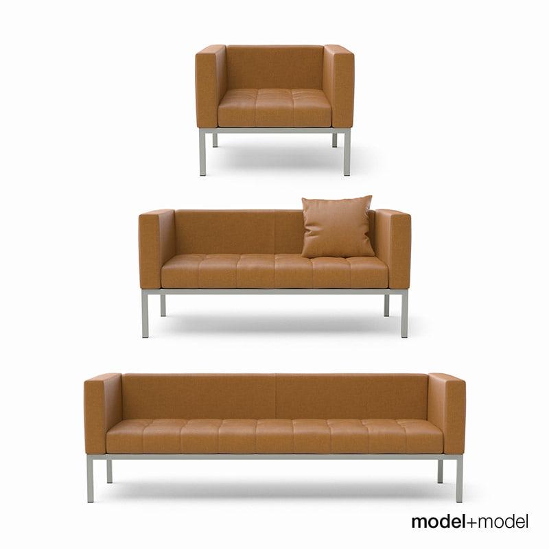 3ds max zanotta dama sofas armchair