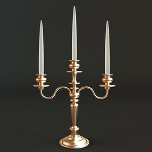 3d model candlestick candle