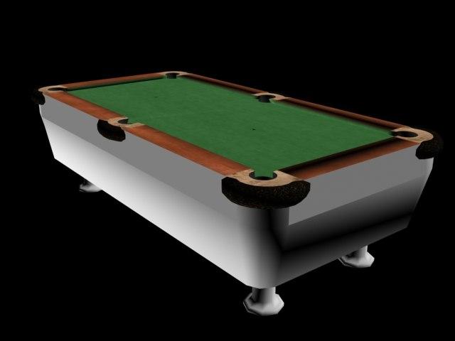 free billiard table 3d model