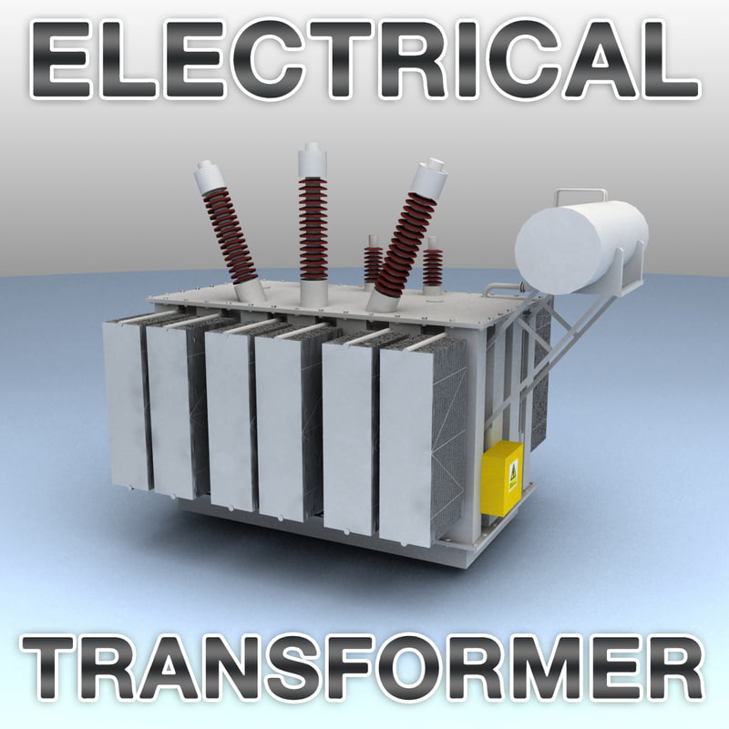 3d model of voltage electrical transformer