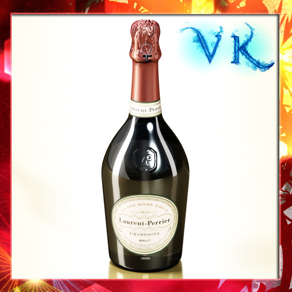 laurent perrier - champagne bottle 3d model