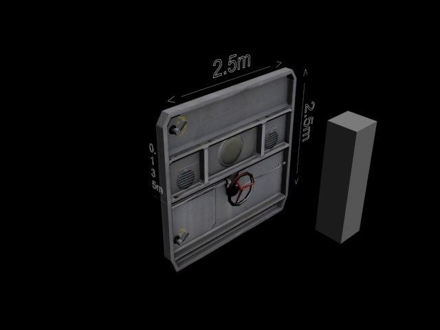 3d metal blast door model