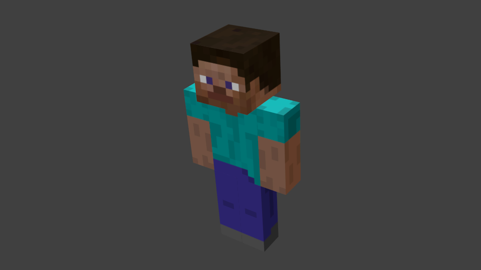 simple minecraft 3d blend