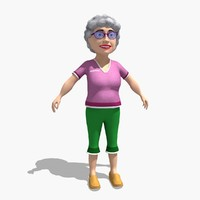 3d model gran grandma