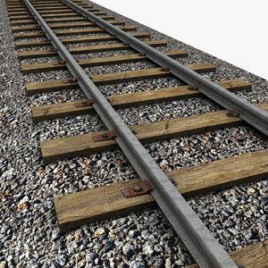 3d model railway rail
