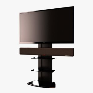 tv rack 3d 3ds