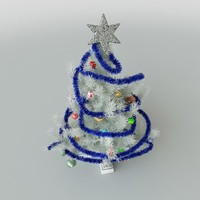 xmas tree white 3d model