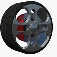 3d rim sport wheel