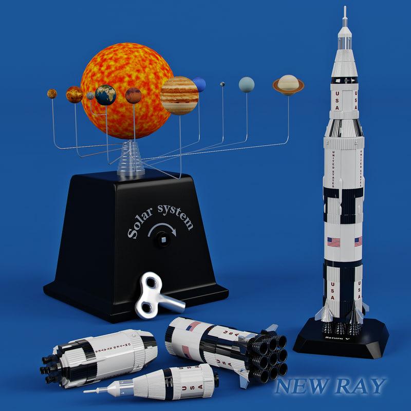 toy rocket new 3d max