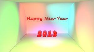 free new year 2013 3d model